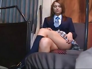 Bus Student Teen Uniform Upskirt