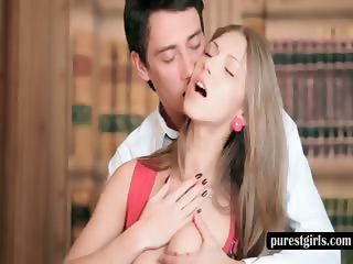 Teen sex god gets her sexy tits and cunt teased