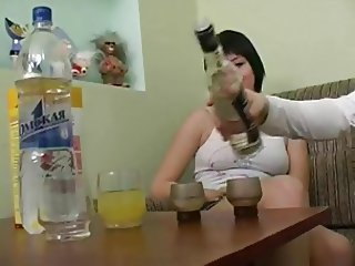 Drunk Russian Teen