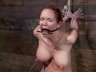 Her Big Nipples Get Pumped, Tied And Pulled!!!!!!!