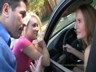 Car Mom Threesome