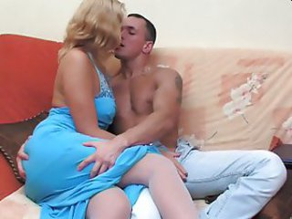 Russian mature Bridget with younger man