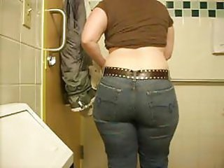 Bathroom Jeans Mature