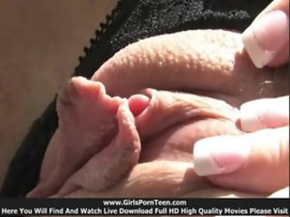 Clit Close up Masturbating Panty