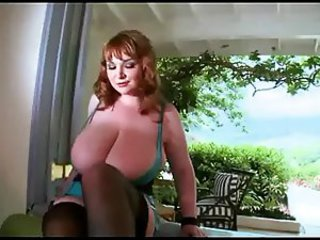 Big Tits  Natural Redhead Stockings