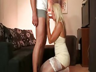 Amazing Blowjob Stockings Teen