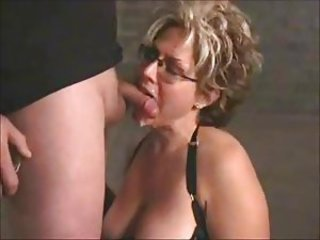 Big Tits Blowjob Cumshot Facial Glasses Mature