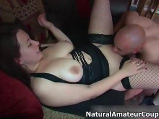 Thick girl with big tits gets her pussy