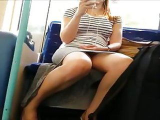 Nice Train Upskirt
