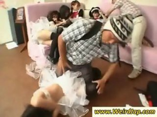 Asian Groupsex Maid Orgy Uniform