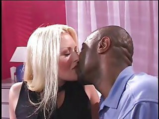 Blonde Interracial Kissing