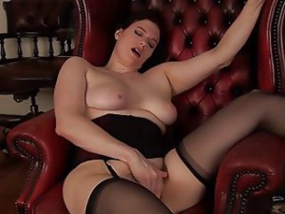 Chubby Masturbating  Orgasm Stockings