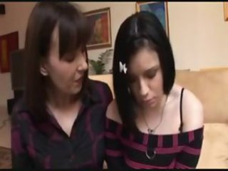 milf shows daughter the ropes