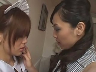 Asian Lesbian Maid  Teen Uniform