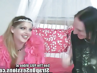 The Strap On Princess Gives Chris His First Butt Pluggin!