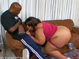 Black Bbw Sucking And Fucking A Big Black Cock