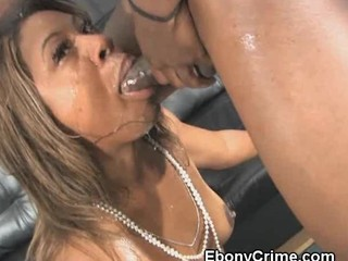 Black Girl Mouth Fucked Until She Gags
