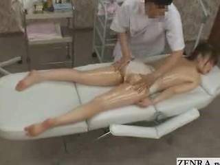 Topless Japan Schoolgirl Has Massage On Ass And Clit