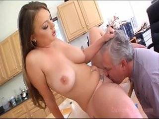 Kitchen Licking   Natural Pornstar