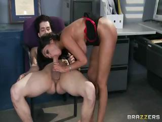 Busty Indian Babe Priya Rai Gets Licked And A Cock In Her Ass