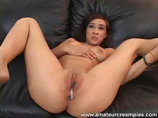 Hot Arial Rose With Small Tattoo Gets Fucked On The Leather Sofa