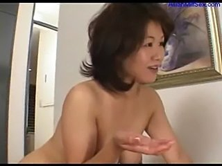 Milf masturbating on the bed jerking off young guy cock cum  free