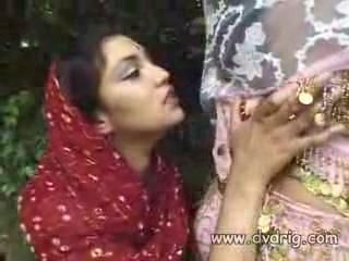 Indian Princesses Rita And Vanessa Enjoys Each Others Naked Company Using Long Dildo Snakes To Connect Their Pussies