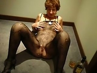 Granny Hairy Small Tits Stockings