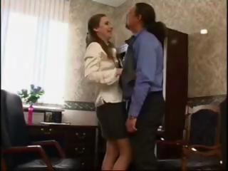 Brunette schoolgirl gets seduced by her professor and fucks