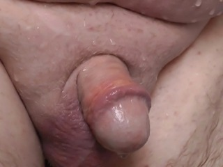 Small Cut Cock gets Showered and Wanked