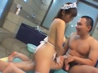 Asian Babe Bathroom Maid