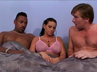 Big Tits Interracial Lingerie  Threesome