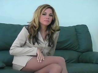 JO Encouragement by Kirsten Price using her pantyhose clad legs & feet