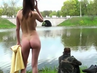 Public Flash - nude fishing