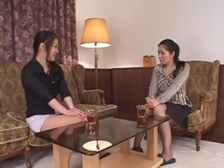 Asian Japanese Lesbian Licking Stockings