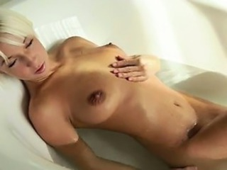 Beautiful fairhair babe morning shower