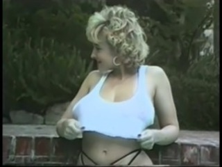 Amazing Big Tits  Outdoor Pool Pornstar Vintage