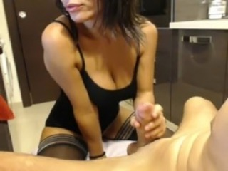 Big Tits Blowjob European Italian Stockings Teen