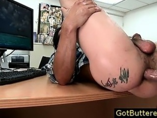 Dude gets assfucked and buttered gay sex part4