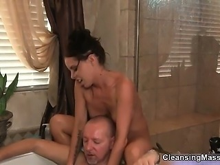 Bathroom Daddy Massage