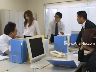 Asian Groupsex Japanese Office Orgy Secretary