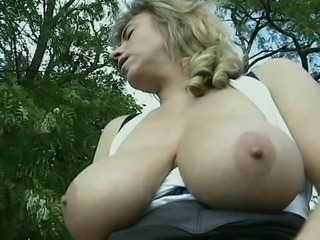 Big Tits  Natural Outdoor