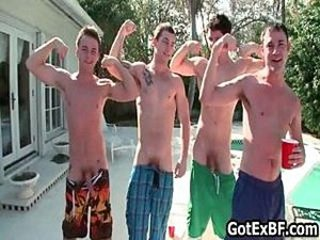 Gay groupsex by the swimmingpool part6