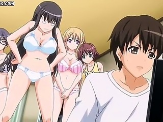 Anime with round tits gets rammed
