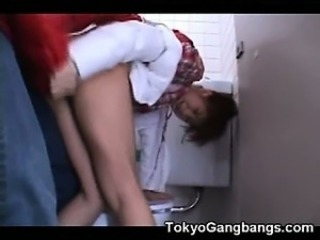 Asian Clothed Forced Hardcore Public Teen Toilet
