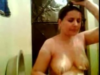 Bbw Arabian Milf Take a Shower