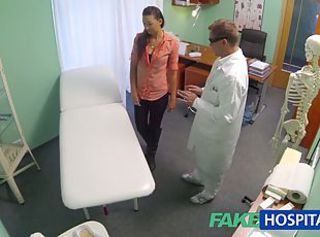 FakeHospital Married wife with rotundity problem has vagina examined and fucked _: doctor orgasms hidden cam voyeur