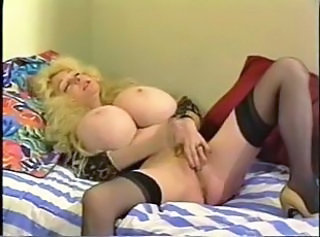 Big Tits Blonde Masturbating Pornstar Silicone Tits Stockings Vintage