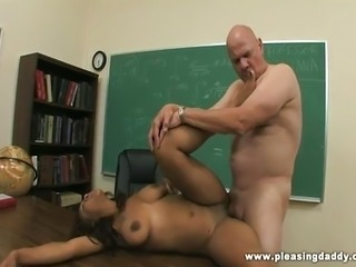 Horny old professor fucks young student