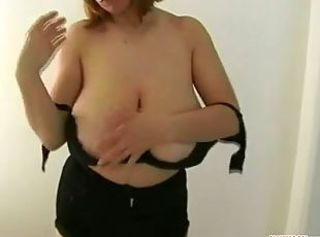 Trying on old bras _: bbw big boobs lingerie tits